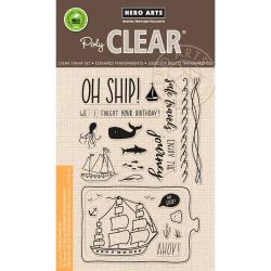"""HA-CM169 Hero Arts Clear Stamps Enjoy The Journey 4""""X6"""""""