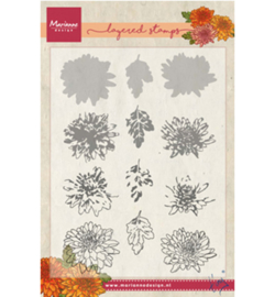TC0858 Marianne Design Tiny's chrysant (layering)