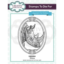 UMS904 Creative Expressions Pre cut stamp Neushoorn
