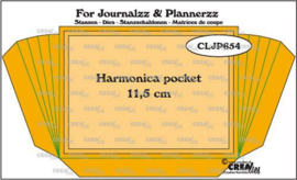 115635/2654 Crealies Journalzz & Pl Stans Harmonica pocket CLJP654 pocketsize: 11,5cm