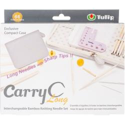 072978 Carry C Interchangeable Bamboo Knitting Needle Long Set