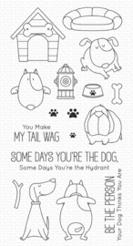 BB-125 My Favorite Things You Make My Tail Wag Clear Stamps