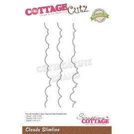 """CCB077 CottageCutz Slimline Dies Clouds 9.5"""" To .7"""""""