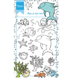 HT1618 Marianne Design Hetty's Fish in the reef