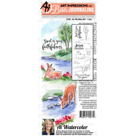 584619 Art Impressions Bible Journaling Watercolor Rubber Stamps As The Deer