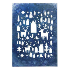 664199  Sizzix Thinlits Die Nordic Winter Tim Holtz