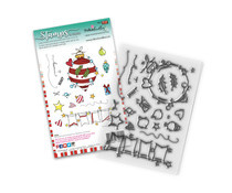 PD8081 Polkadoodles Baubles & Banners Christmas Clear Stamps