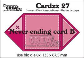 CLCZ27 Crealies Cardzz Oneindige kaart B