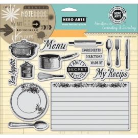 HA-AC033 Adventures In Cardmaking & Journaling Cling Stamps My Recipe