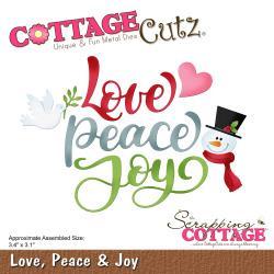 540405 CottageCutz Die Love, Peace & Joy