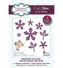 CED1519 Finishing Touches Collection Petite Forget Me Nots