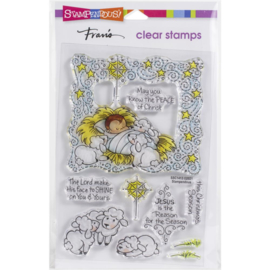 SSC1413 Stampendous Perfectly Clear Stamps Nativity Frame