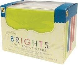 414285 DCWV Box of Cards Brights Solid