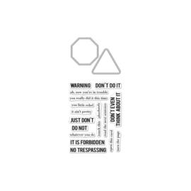 620665 Hero Arts Stamp & Cut No Trespassing