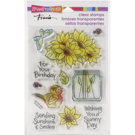 645713 Stampendous Perfectly Clear Stamps Pop Sunflower
