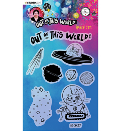 ABM-OOTW-STAMP71 - ABM Clear Stamp Space Cats Out Of This World nr.71