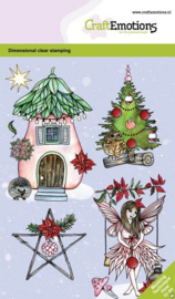 130501/0102 CraftEmotions clearstamps A6 - Fairy house GB Dimensional stamp