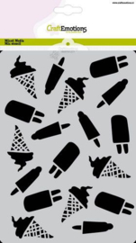 185070/1277 CraftEmotions Mask stencil Summer Fun ijsjes A5 Carla Creaties