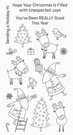 "CS503 My Favorite Things Clearly Sentimental Stamps Joyous Holidays 4""X8"""