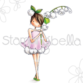 """370266 Stamping Bella Cling Stamp Garden Girl Lily Of The Valley 6.5""""X4.5"""""""