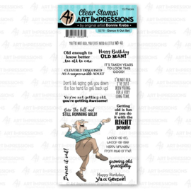 623330 Art Impressions Laugh Lines Stamp Dance It Out