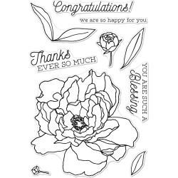 "252074 Hero Arts Clear Stamps Peonies 4""X6"""