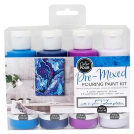 348502 American Crafts Color Pour pouring paint kit galaxy