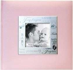 352350 Expressions Postbound Album Baby - Pink