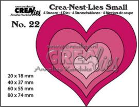 115634/1222 Crealies Crea-nest-Lies Small Harten (4x)