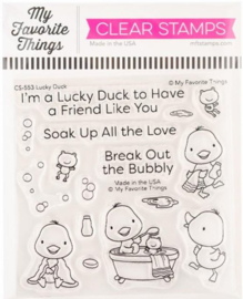 """CS553 My Favorite Things Clearly Sentimental Stamps Lucky Duck 4""""X4"""""""