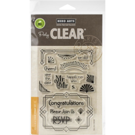 "573287 Hero Arts Clear Stamps 4""X6"" Deco Celebration"