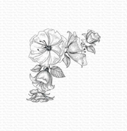 BG-124 My Favorite Things Corner Blooms Rubber Stamp