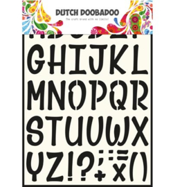 470.990.005 Dutch DooBaDoo Dutch Stencils Art Alfabet 5