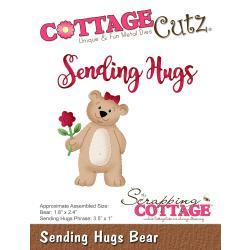 """322025 CottageCutz Die Sending Hugs, Bear 1"""" To 3.5"""""""
