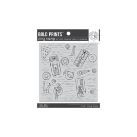 "637336 Hero Arts Cling Stamps Pool Party Bold Prints 6""X6"""