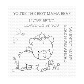 """RAM002 My Favorite Things Clear Stamps Many Bear Hugs Ahead 4""""X4"""""""