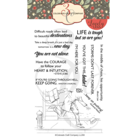 """624370 Colorado Craft Company Clear Stamps His Bad Day-Lovely Legs 4""""X6"""""""