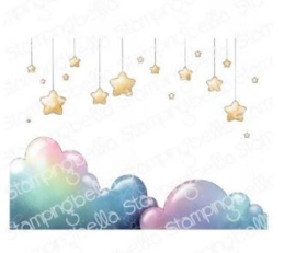 662018 Stamping Bella Cling Stamps Stars And Clouds Backdrop