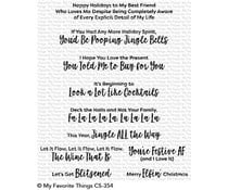 CS-354 My Favorite Things Sassy Pants Holiday Clear Stamps