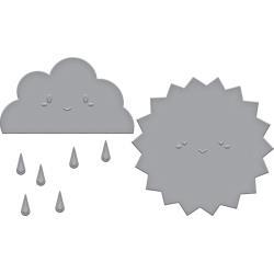 S3340 Spellbinders Indie Line Shapeabilities Dies Happy Weather