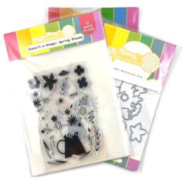 Waffle Flower Crafts Dies & Stamp set