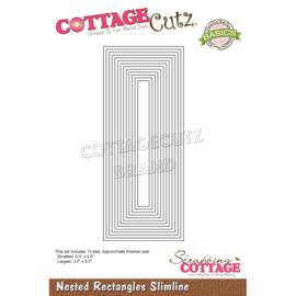 "CCB081 CottageCutz Slimline Dies Nested Rectangles 8.5"" To .5"""