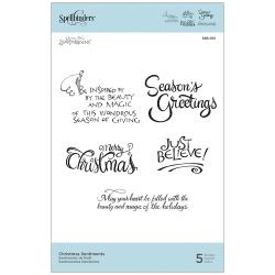 SBS165 Spellbinders Cling Stamps Dangling Ornaments