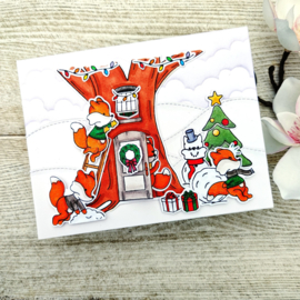 LDRS3254 LDRS Creative Snowball Fight Clear Stamps
