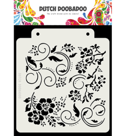 470.715.163 Dutch DooBaDoo Dutch Mask Art Flowers and swirls