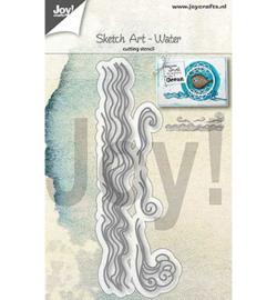 6002/1304 Cutting & embossing Sketch Art - water