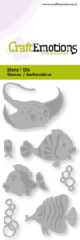 115633/0247 CraftEmotions Die - tropische vissen Card