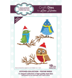 CEDLH1041 The Stitched Collection Festive Birds