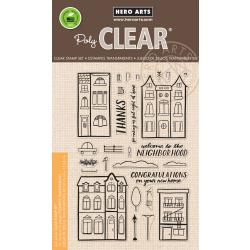 "HA-CM238 Hero Arts Clear Stamps Welcome Neighbor 4""X6"""