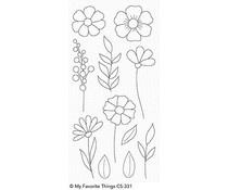 CS-331 My Favorite Things Wildflowers Clear Stamps